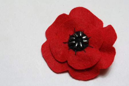 Felt poppies for remembrance day tallys treasury felt poppies for remembrance day mightylinksfo