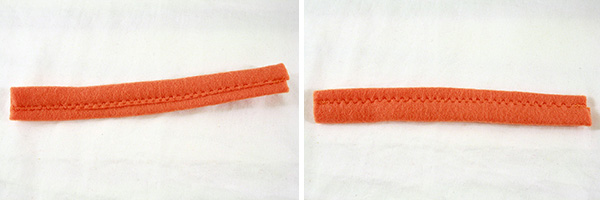 front and back of napkin loop