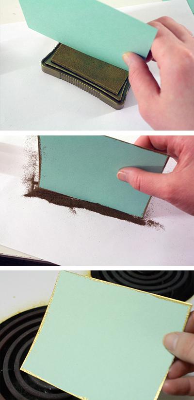 emboss paper edges