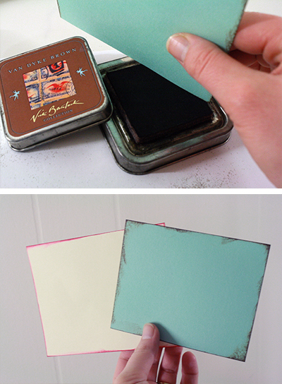 stamp colour edges