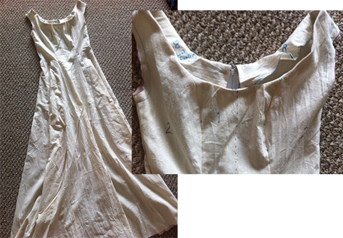 linen mockup dress