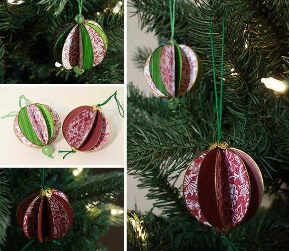 paper beach ball ornaments