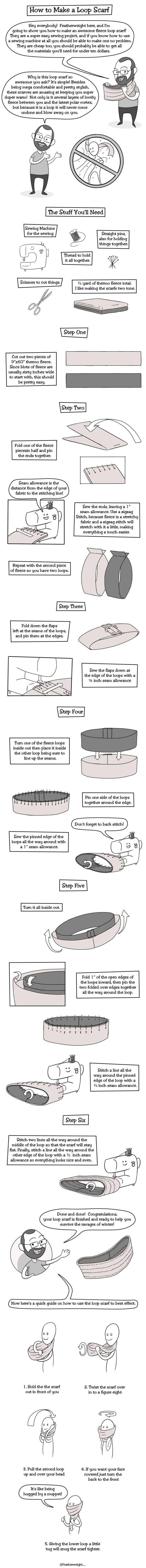 loop scarf tutorial by Featherweight