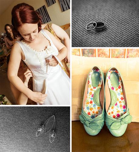 wedding prep bride accessories