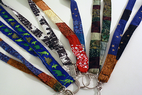 DIY fabric lanyards | Tally's Treasury