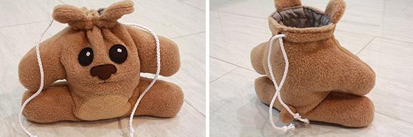teddy bear dice bag